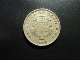 COSTA RICA * : 2 COLONES   1948 (L) Tranche B ***  KM 183      B+/ TTB  ** - Costa Rica