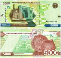 UZBEKISTAN 5000 SUM 2021 P NEW - UNC - Uzbekistan