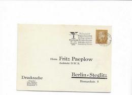 Ganzsachenkarte Aus Berlin 1930 - Briefe U. Dokumente