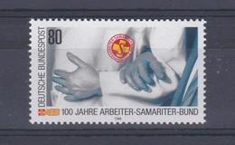 Allemagne RFA 1988 1226 ** Centenaire Association Des Secouristes Bénévoles Secouriste Assistant Une Personne âgée Mains - Primeros Auxilios