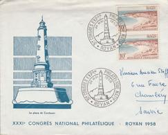 31 EME CONGRES EXPOSITION PHILATELIQUE DE ROYAN 1958 - Bolli Commemorativi