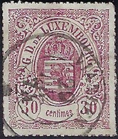 Luxembourg - Luxemburg - Timbres - 1865  30C  °  Michel 21   VC. 100,- - 1859-1880 Wapenschild
