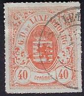 Luxembourg - Luxemburg - Timbres - 1865   40C.   °   Certifié  F.S.P.L.   VC. 75,- - 1859-1880 Wapenschild