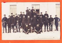 VaM077 ♥️  Carte-Photo MONTPELLIER (34) Soldats Artilleurs 56e Régiment Artillerie RIA Caserne 1910s à Thérèse MARTY - Montpellier