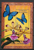 St Vincent - 2001 - Bloc Feuillet BF N°Mi. 546 - Papillon / Butterfly - Neuf Luxe ** / MNH / Postfrisch - Butterflies