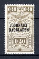 JO21A MNH** 1929 - Type II, R Staat Boven B - Journaux