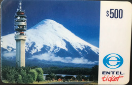 CHILI  -  Prepaid  -  ENTEL - Ticket  -  $ 500 - Cile