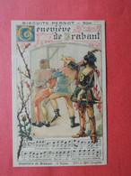 CHROMO  Lith. Vieillemard.  Biscuits PERNOT.  Chansons Anciennes. Paroles  Et Partition.  Genevieve De Brabant - Sin Clasificación