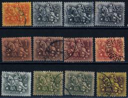 Portugal 1953 Sceau Roi Dini 12 Stamps 7 Values YT N°794 795 797 799 800 802 803 Used Oblitérés - Usado