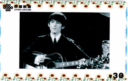 The Beatles : Télécarte Prépayée (Chine) George Harrison - Musik