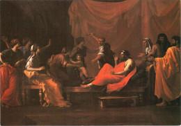 CPM 75 Paris - Musée Du Louvre. Moïse Enfant Foulant La Couronne De Pharaon Par Nicolas POUSSIN TBE - Pittura & Quadri