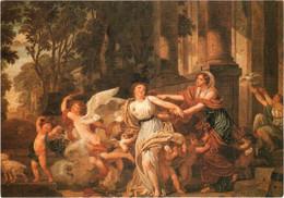CPM 75 Paris - Musée Du Louvre. L'Innocence Entraînée Par L'Amour Ou Le Triomphe De L'Hymen Par Jean-Baptiste GREUZE TBE - Pittura & Quadri