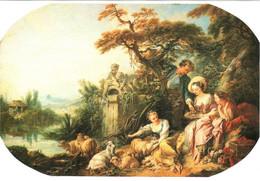 CPM 75 Paris - Musée Du Louvre. Les Présents Du Berger Ou Le Nid Par François BOUCHER TBE éd. Japonaise, Txt En Japonais - Pittura & Quadri