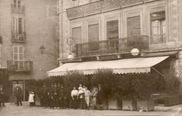 CPA - 38 - Tres Rare Carte Photo Du Grand Café De Bourgoin - La Place D'armes - UNIQUE A VOIR - Bourgoin