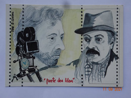 """ILLUSTRATEUR  QUENTIN CINÉMA CHANSON GAINSBOURG BRASSENS """" PORTE DES LILAS """" - Other Illustrators"""