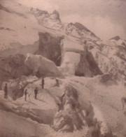 Suisse Alpes Glacier Du Tabuchet & La Meije Ancienne Photo Stereo 1880 - Fotos Estereoscópicas