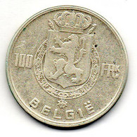 BELGIUM, 100 Francs, Silver, Year 1949, KM #139.1, BELGIE - 06. 100 Francs
