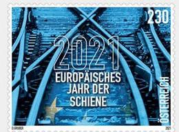 Austria 2021  1 V MNH  European Year Of Rail  Railway Train - Trains