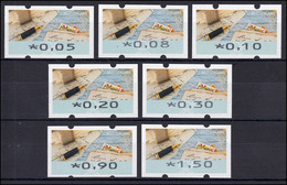 8 Schreiben - 7 ATM 5-150 Cent 2017, Satz VS 1, Postfrisch ** - Automaten