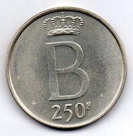 BELGIUM, 250 Francs, Silver, Year 1976, KM #157.1, DES BELGES - 10. 250 Francs