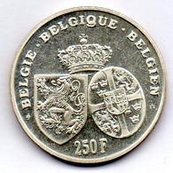 BELGIUM, 250 Francs, Silver, Year 1995, KM #199 - 07. 250 Frank