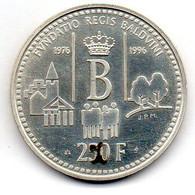 BELGIUM, 250 Francs, Silver, Year 1996, KM #202 - 07. 250 Francs