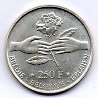 BELGIUM, 250 Francs, Silver, Year 1999, KM #218 - 07. 250 Francs