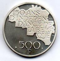 BELGIUM, 500 Francs, Silver, Year 1980, KM #161a, BELGIQUE - 11. 500 Francs