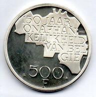 BELGIUM, 500 Francs, Silver, Year 1980, KM #162a, BELGIE - 11. 500 Francs