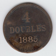 Guernsey Coin 4 Doubles 1885 - Guernsey