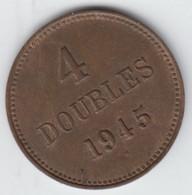 Guernsey Coin 4 Doubles 1945 - Guernsey