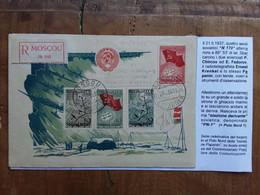 RUSSIA - Raccomandata Spedita Da Mosca Nel 1938 + Spese Postali - Briefe U. Dokumente