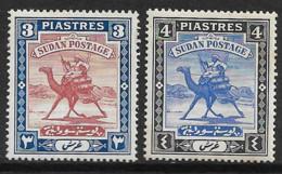 SUDAN 1927 - 1941 3P, 4P SG 44b, 44c MOUNTED MINT Cat £15.25 - Sudan (...-1951)