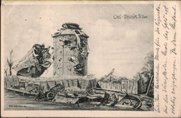 ! 1916 Alte Ansichtskarte , öltank An Der Yser, Oil Tank, 1. Weltkrieg, Feldpostkarte - Guerre 1914-18