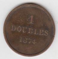 Guernsey Coin 4 Doubles 1899 - Guernsey