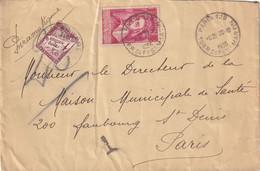 N°40 SUR PNEUMATIQUE 1935 - Lettres Taxées