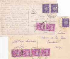 PETAIN - 2 CARTES TAXEES - Lettres Taxées
