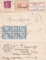N°28 X 6 - POSTE RESTANTE - 1937 - Lettres Taxées