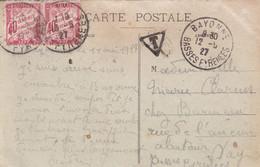 N°35 X 2 - 1927 - Lettres Taxées