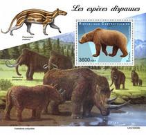 CENTRAL AFRICA 2021 - Extinct Rhinoceros S/S. Official Issue [CA210406b] - Rhinoceros