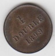 Guernsey Coin 1 Double 1899 - Guernsey