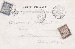 TAXE 15c NOIR EN 1902 !! + 5c BLEU - Lettres Taxées