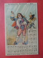 CHROMO  Lith. Vieillemard.  Biscuits PERNOT.  Chansons Anciennes. Paroles  Et Partition.   Monsieur De La Palisse - Sin Clasificación