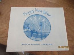 1919 Mission Militaire Francaise Carte Voeux Illustrateur - Other