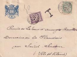 N°37 SUR LETTRE 2ème ECHELON - 1901 - Lettres Taxées