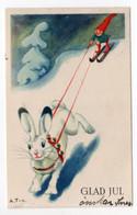 SMALL PC - FINLAND - ARNOLD TILGMANN - GNOME - SKI - SNOWHARE - USED 1934  - GLAD JUL / CHRISTMAS - Non Classificati