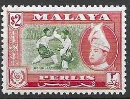 Perlis Malaysia Mnh ** 1957 12 Euros - Perlis