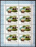 Sowjetunion/Russia 1984 Mi.5384 KleinbogenWasserpflanzen-Seerose/ Sc.5254 A M/S Flowers **/MNH - Blocs & Feuillets
