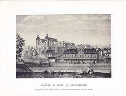 """Wig-  Carte à 2 Votels  MONTBELIARD  """"""""1851"""""""" - Montbéliard"""