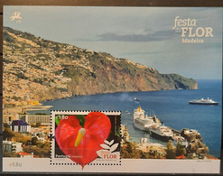 2015 - Portugal - MNH As Scan - Flower Festivity - Madeira - 2 Souvenir Sheets Of 1 Stamp - FACE VALUE - Unused Stamps